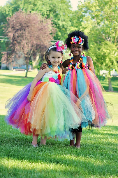 Sparkle Bebe Model Magazine photo shoot, Tutu Dresses and matching Jewelry by Tutu Fancy Designs.